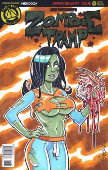 Zombie Tramp Sketch Cover by BillMcKay