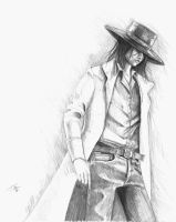 Tired Cowboy by kzeor