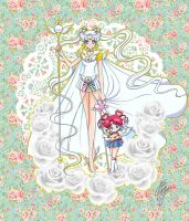 Sailor Cosmos by Marco Albiero with background by xuweisen