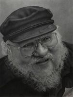 George R. R. Martin by WingobiaArtGraphic