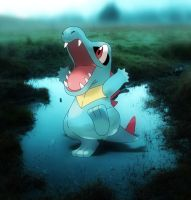 totodile in swamp by magicalyuki