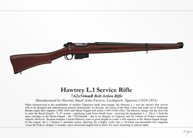 Hawtrey L.1 Rifle (NationStates) by Artifician