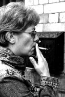 The Woman Smoking by Amy-Lou-Photography