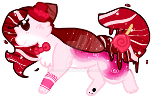 Peppermint Candy Squid Cat Auction (CLOSED) by StarryEdge