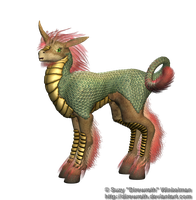 Fantasy Oriental Unicorn Png Stock Woods by Direwrath