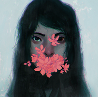 FLOATING WORLD - Portrait of The Girl by rabbitran