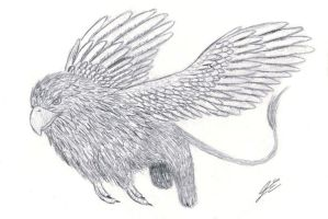 7 Days Drawing Challenge - Day 3: Griffin by miki-chaan