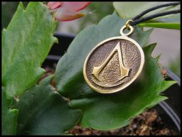 Assassin's creed pendant by BaldurJewelry