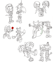 My Sonic V-day Couples WIP by Envytheskunk