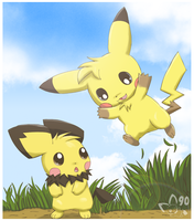 Glomp Attack by pichu90