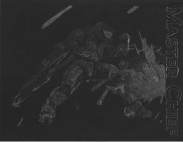 Master Chief Scratchboard by MsGreywolf