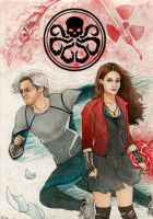 Pietro and Wanda Maximoff - The Twins by danielfoez