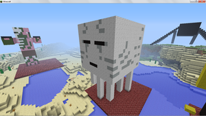 ghast model made in minecraft by kingdavid6794