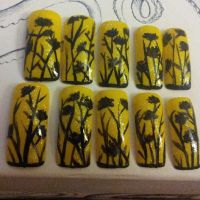 Fields of Gold nail art by TheHungrySquid