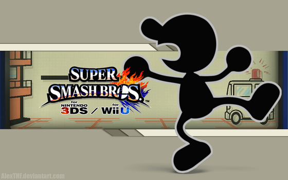 Mr. Game n Watch Wall - Super Smash Bros. WiiU/3DS by AlexTHF