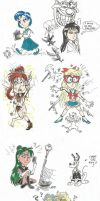 Sailor Moon  thoughtful sketches by devilkais