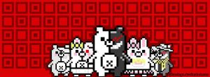 Danganronpa facebook cover pixel art by Keykostego