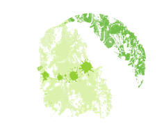 Chikorita Paint Splatter Graphics by HollysHobbies