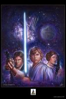 Star Wars Celebration IV Print by DavidRabbitte