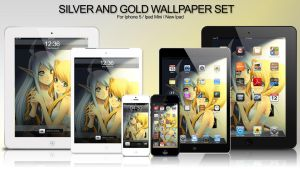 Silver Gold I-Series Wallpaper by panom