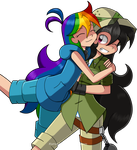 Surprise Hug!! by Kurus22