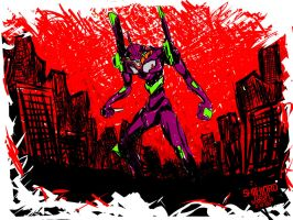 EVA UNIT 01 by shithlord