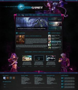 Webdesign | North Games | Gaming Blogger Portal by LoomarNet