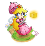 Chibi Peach trophie by demonbp