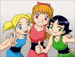 Teen Powerpuff girls by pungang