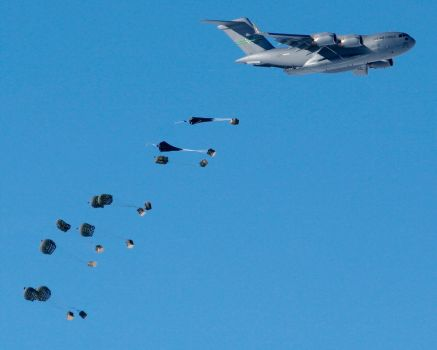C-17 Airdrop - South Pole by Ironpaw