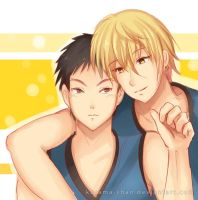 -- KnB : Kise and Kasamatsu -- by Kurama-chan