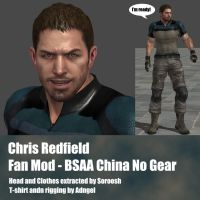 Chris Redfield Fan Mod BSAA China No Gear by Adngel