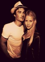 Claire Holt and Ian Somberhalder by JanetAnn