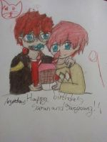 Happy birthday saeran and saeyoung by Anyadraw