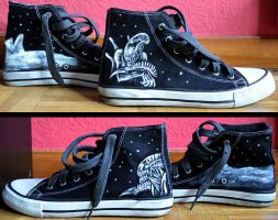 Alien trainers by LauraMSS