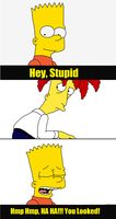 Sideshow Bob Gets Bart Simpsoned by ComicalShadow
