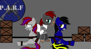 Shadow Thunder and Amy - Tied up by DoomKeiser by Imp344