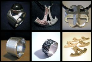 Rings and pendants by Einoin