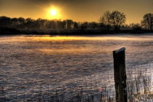 Snow sunset HDR1 by Rellim
