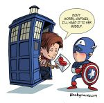 the Doctor and Captain America by iliaskrzs