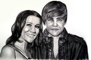 Justin Bieber and His Mom by jardc87