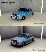 Dacia 1300 3D Model by RomanianGuy
