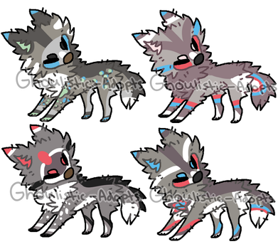 [CLOSED] Bree x Dakota Puppies for Goldenpaw413 by Ghoulistic-Adopts