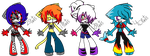 .:::Sonic Rock n Roll Adoptable girls:::. by abbyfirecat