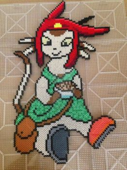 Meow from Space Dandy! by PerlerzByRex