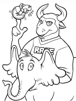 Rage the Bull Coloring Page by mlaproductions