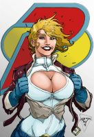 Power Girl Color Practice by eggoverlord
