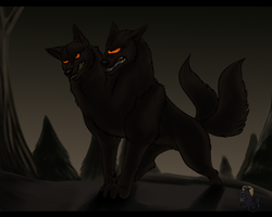 Sinister evening by Husky-Foxgryph