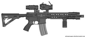 ''Gecko's'' Airsoft Design #6 (Black vers.) by DrawTime