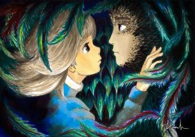Howl and Sophie by Wizmikal